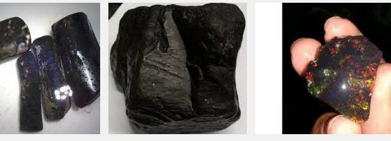 Bongkahan Batu Black Opal