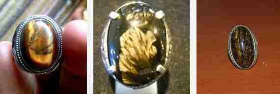 Batu Akik Bulu Macan Serat Emas