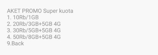 Paket Promo Super Kuota Telkomsel