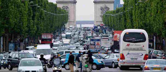 Kemacetan di Paris