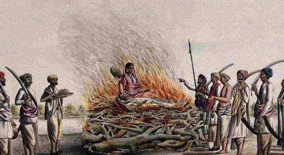 Sati, Ritual Pembakaran Diri