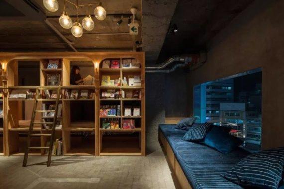 Hotel Dengan Konesp Tidur di Rak Buku