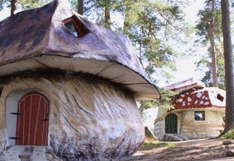 Hotel Dengan Konsep Rumah Jamur